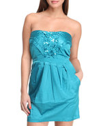 Women Party It Up Dress Teal Medium