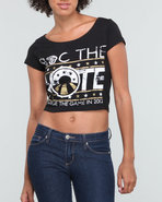 Women Roc The Vote Graphic S/S Tee Black X-Large
