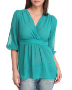 Women Lisa Top Green Medium