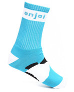 Men Panda Feet Socks Light Blue