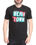 Men Beat Down S/S Tee Black Large
