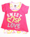 Girls Sweet Lover 2-Fer Top (Little Girls) Pink 6
