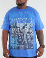 Men Fade Out Tee (B +T) Blue 4X