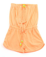 Girls Neon Romper (4-6X) Orange 5/6 (M)