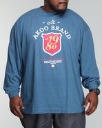 Akoo Men Est 1980 L/S Tee Blue Xx-Large