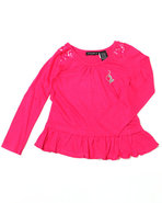 Girls Ruffle Tunic (4-6X) Pink 6X