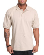 Men Pique Polo Khaki X-Large