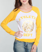 Women Athletic Pullover Yellow Medium