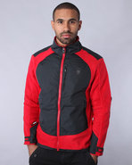 Men Nomadic Wolf Zip-Up Fleece Red Xx-Large