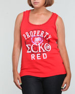Women Active Tank (Plus) Red 1X