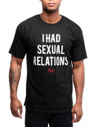 Men Sexual Relations Tee Black Large