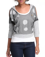 Women Mesh Hoodie Light Grey Small