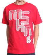 Men Laser Graphic Tee Red Medium