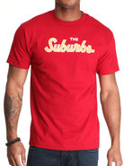 Men Suburbs Tee Red Large