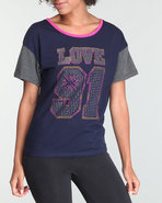 Women Shortsleeve Raglan Tee Navy Large
