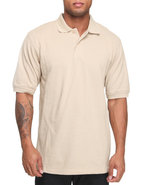 Men Pique Solid Polo Khaki X-Large