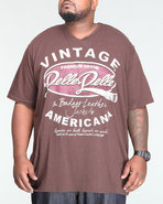 Men S/S Vintage Americana Tee (B&T) Brown X-Large
