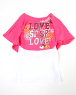 Girls Love 2-Fer Top (Little Girls) Pink 4