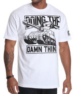 Men Doing The Damn Thing Tee White Large