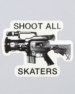 Men Shoot All Sticker