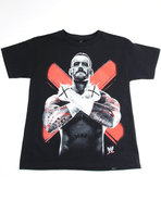 Boys Cm Punk Tee (8-20) Black Large