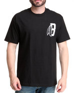 Blvck Scvle Men Feather B Logo Tee Black Large