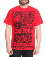 Men City Rides Tee Red Small