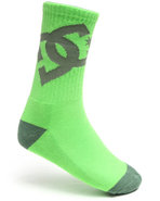 Dc Shoes Men Lifted Socks Green 9-11