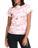 Drj Army/Navy Shop Women Rothco Camo Tee Pink Boy'