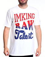 Imking Men Stacked Tee White Medium