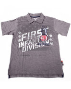 Boys Graphic Slub Polo (8-20) Grey 8 (S)