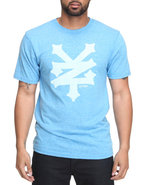 Men Crackerjack Tee Light Blue Small