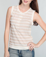 Rvca Women Freedom Knit Top Off White Small