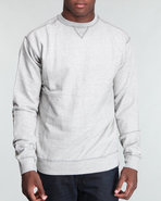 Men Light French Terry Heather Crew Neck Sweat Shi