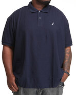 Men Solid Performance Polo (B&T) Navy 1X