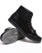Men Mick Midtop Sneaker W/Faux Suede Black 8