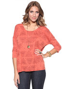 Djp Outlet Women's Symbol Blouse Orange Medium
