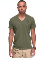 G-Star Men Raw Cargo Clubs V-Neck S/S Tee Olive Xx