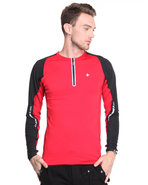 Men Bravara Performance L/S Shirt Red Large