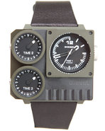 Men Kickstart Camo Square Face W/ Brown Leather St
