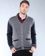 Djp Basics Men Varsity Shawl Charcoal X-Large