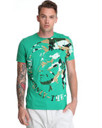 Men T-Fleet Indian Head Camo Tee Xx-Large
