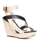 Joe's Jeans Women's Karla Wedge Sandal Beige 8