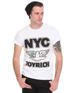 Men Nyc Joyrich Graphic Tee White Medium