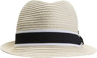 HEAT WAVE STRAW FEDORA Natural White