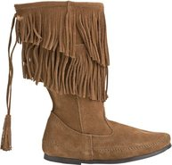 Minnetonka Calf Hi 2 Layer Fringe Boot