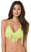 AUDREY STRAIGHT FRINGE BIKINI TOP Medium