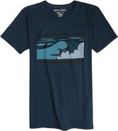 X ANDY DAVIS SLOTTED SS TEE Small Navy Blue