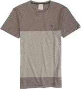 STRIPE COMBO TEE Medium Natural White
