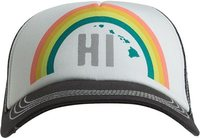 MAHALO RAINBOW TRUCKER HAT Charcoal Gray